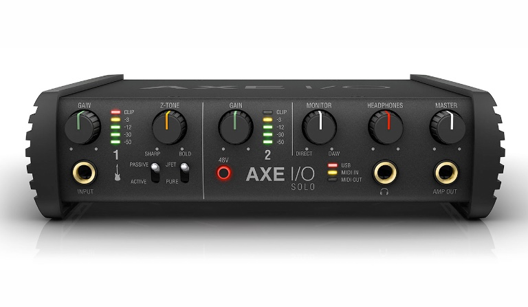 Compact audio interface with advanced guitar tone shaping