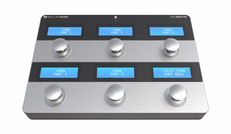 MIDI Maestro: MIDI Foot Controller with built in screens