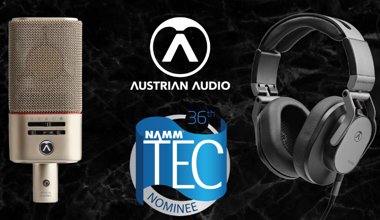 Austrian Audio OC818 & Hi-X55 nominated for NAMM TEC Awards!